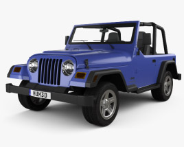 3D model of Jeep Wrangler TJ 1997