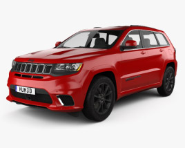 3D model of Jeep Grand Cherokee (WK2) TrackHawk 2017