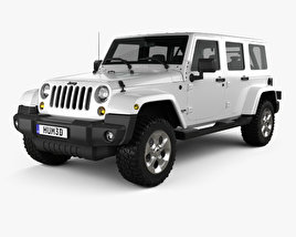 3D model of Jeep Wrangler Unlimited Sahara 2012