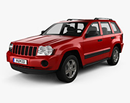 3D model of Jeep Grand Cherokee WK Laredo 2005