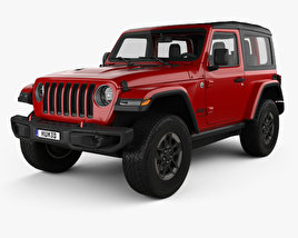 3D model of Jeep Wrangler Rubicon 2018