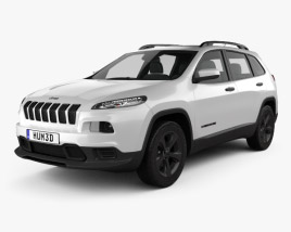 3D model of Jeep Cherokee Limited 2017