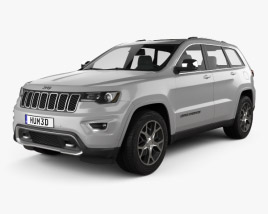 3D model of Jeep Grand Cherokee Overland 2018