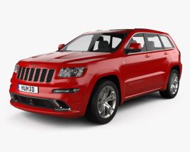 3D model of Jeep Grand Cherokee SRT8 2013