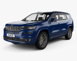 3D model of Jeep Commander Limited 2018