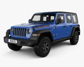3D model of Jeep Wrangler Unlimited Rubicon 4-door 2018