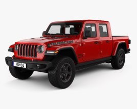 3D model of Jeep Gladiator (JT) Rubicon 2020