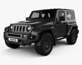 3D model of Jeep Wrangler Project Kahn JC300 Chelsea Black Hawk 2-door RHD with HQ interior 2016