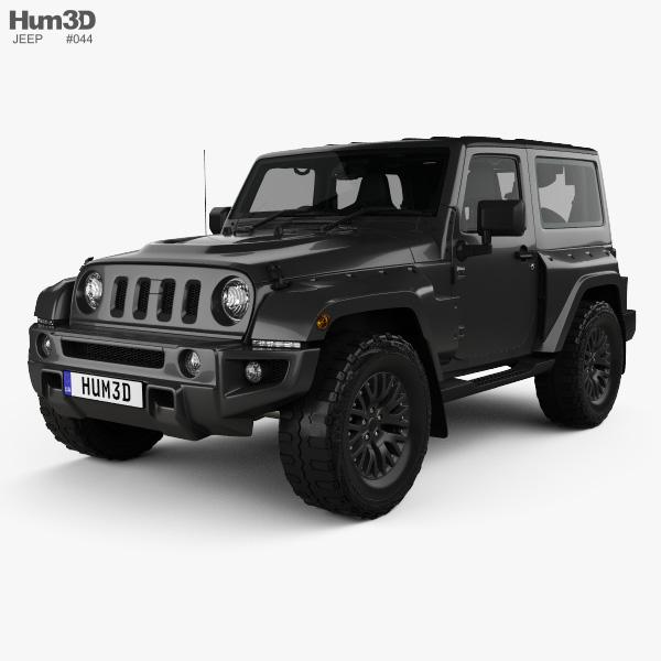 Jeep Wrangler Project Kahn JC300 Chelsea Black Hawk 2-door RHD with HQ interior 2016 3D model