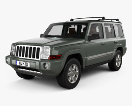 3D model of Jeep Commander Limited with HQ interior 2006