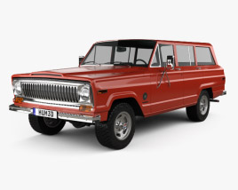 3D model of Jeep Cherokee S 4-door 1977