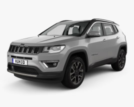 3D model of Jeep Compass Limited with HQ interior 2016