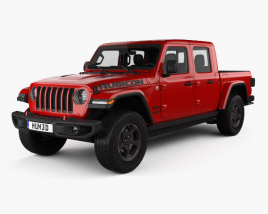 3D model of Jeep Gladiator Rubicon with HQ interior 2020