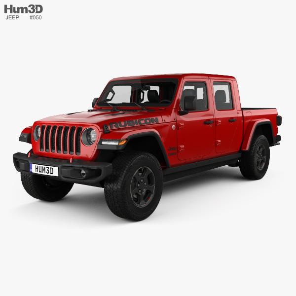 Jeep Gladiator Rubicon with HQ interior 2020 3D model