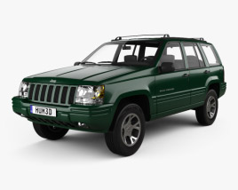 3D model of Jeep Grand Cherokee 1996