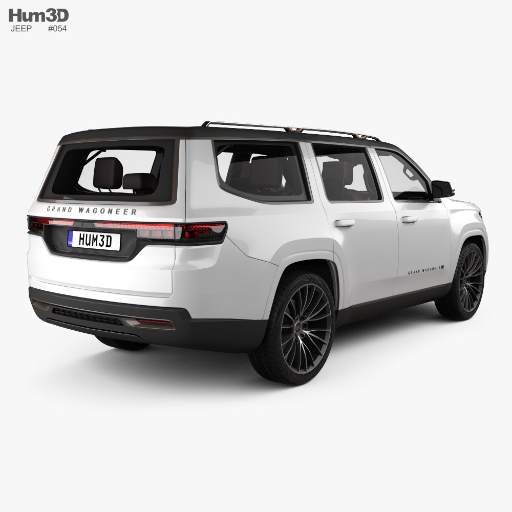 Jeep Grand Wagoneer with HQ interior 2020 3d model back view