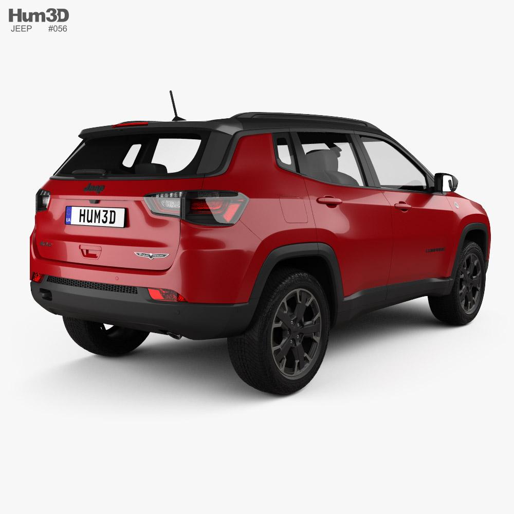 Jeep Compass Trailhawk 4xe 2021 3d model back view