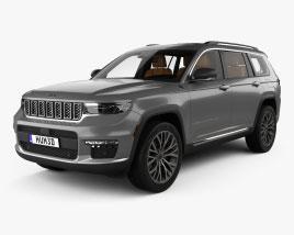 Jeep Grand Cherokee L Summit mit Innenraum 2021 3D-Modell