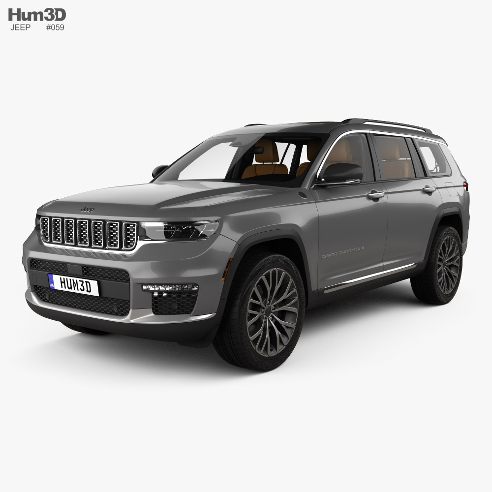 Jeep Grand Cherokee L Summit with HQ interior 2021 3D model