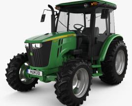 3D model of John Deere 5100M Utility Tractor 2013