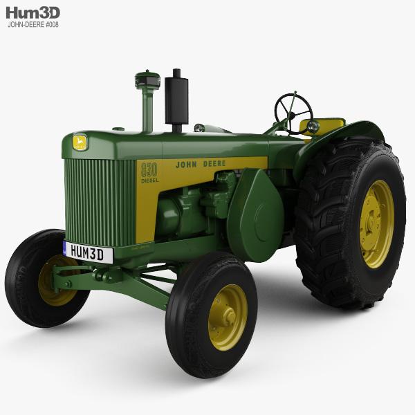 John Deere 830 1958 3D model