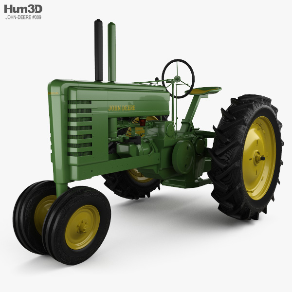 John Deere B 1947 3D model