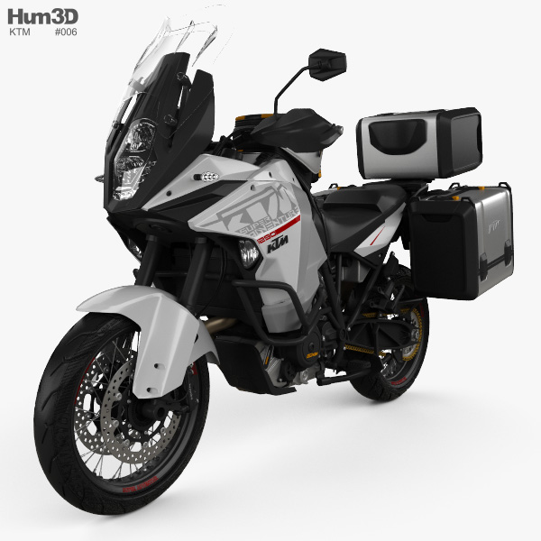 3D model of KTM 1290 Super Adventure 2015