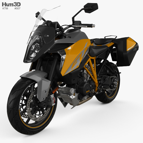 3D model of KTM 1290 Super Duke GT 2016