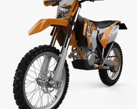 3D model of KTM 500 EXC 2016