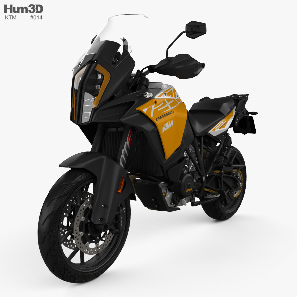 3D model of KTM 1290 Super Adventure S 2017