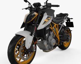 3D model of KTM 1290 Super Duke R 2017