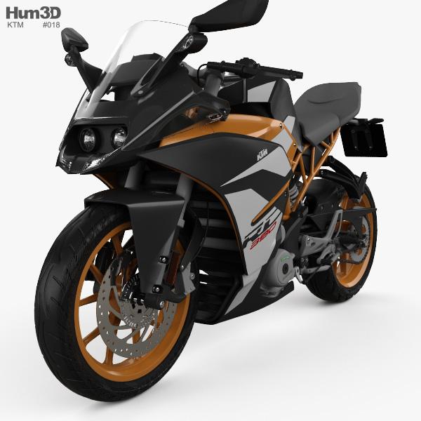 KTM 390 RC 2017 3D model