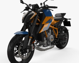 3D model of KTM 1290 Super Duke R 2020