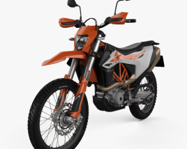 3D model of KTM 690 Enduro R 2020