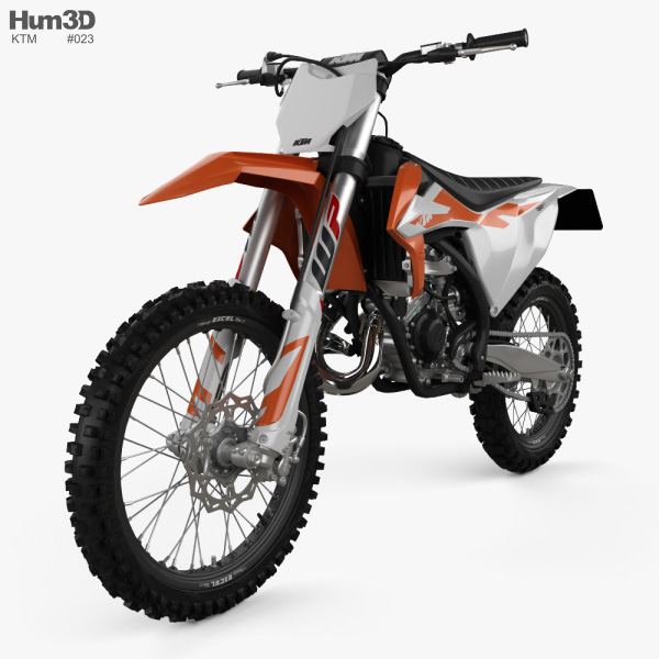3D model of KTM 150 SX 2020