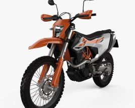 3D model of KTM 690 Enduro R 2012
