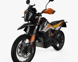 3D model of KTM 790 Adventure R 2020