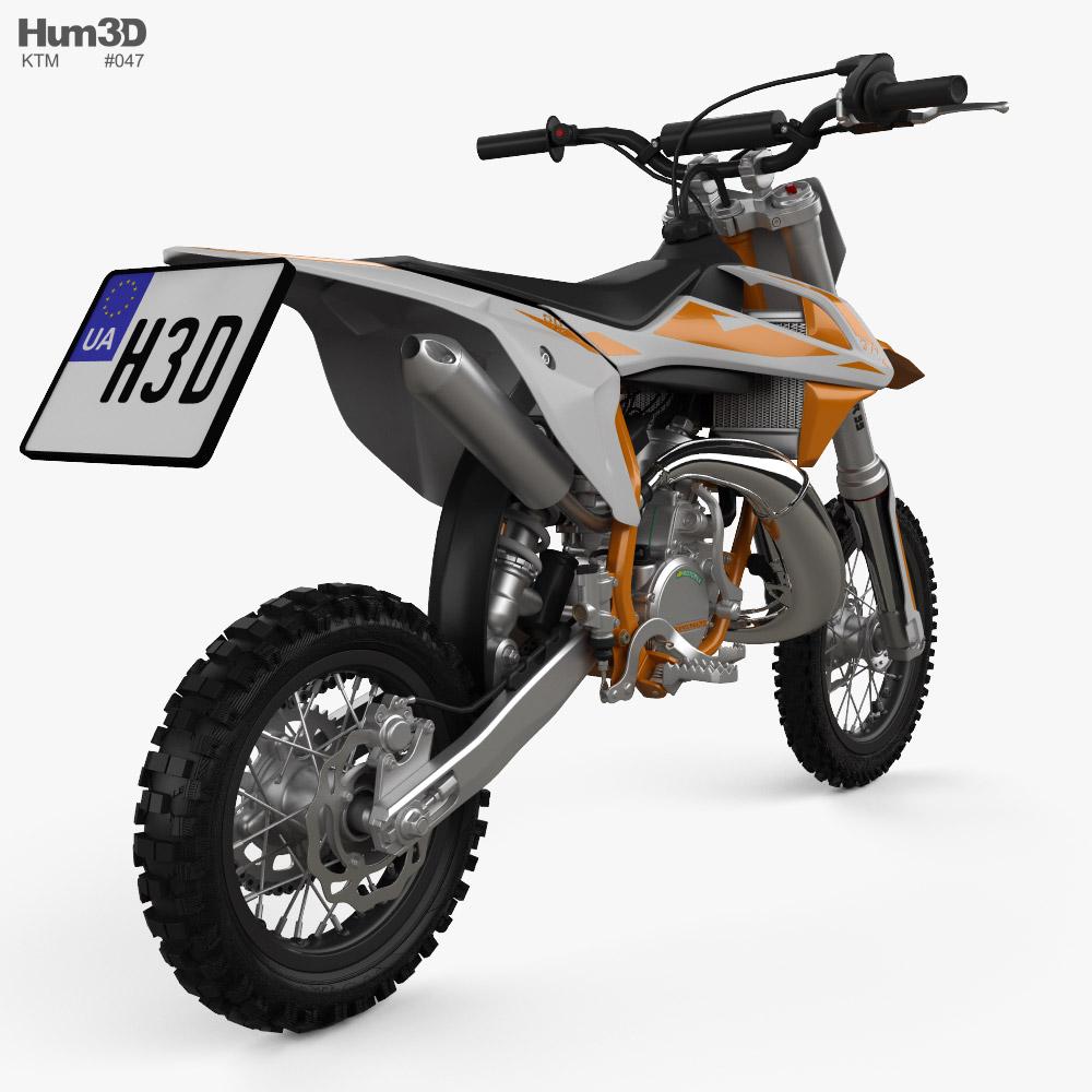 KTM SX50 2019 3D模型 后视图