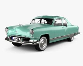 3D model of Kaiser DeLuxe 2-door sedan 1951