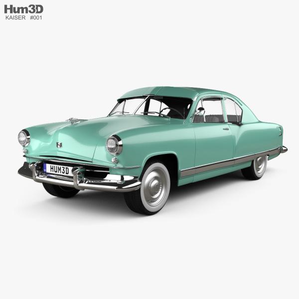 Kaiser DeLuxe 2-door sedan 1951 3D model