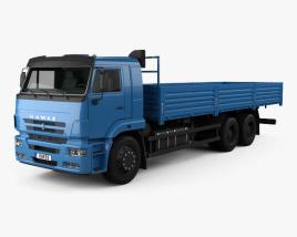 3D model of Kamaz 65117 Flatbed Truck 2014