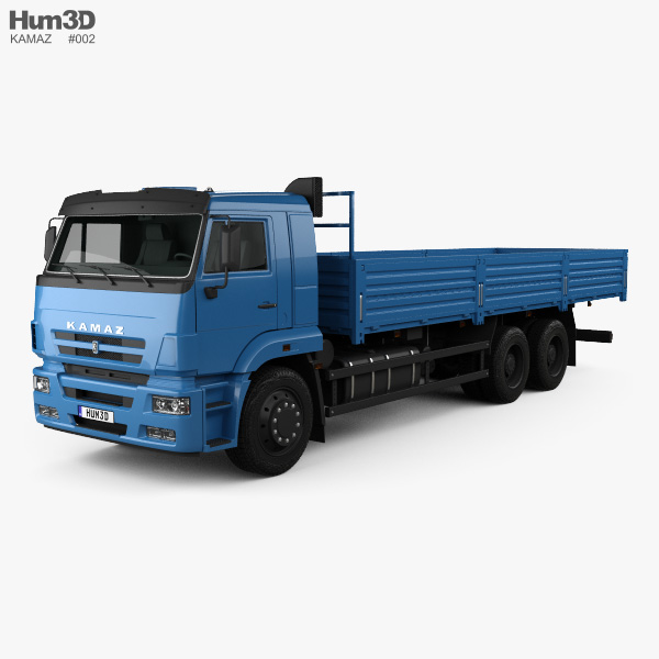 Kamaz 65117 Flatbed Truck 2014 3D model