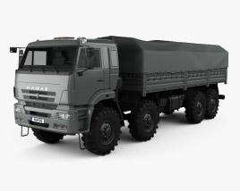3D model of Kamaz 63501 Mustang Truck 2011