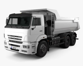 3D model of Kamaz 6520 Tipper Truck 2009