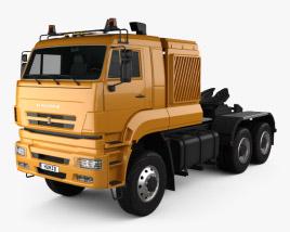 3D model of KamAZ 65226 Tractor Truck 2010