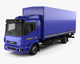 3D model of KamAZ 5308 A4 Box Truck 2013