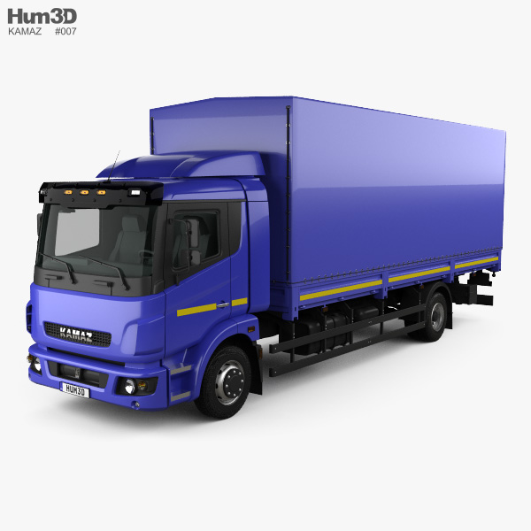 KamAZ 5308 A4 Box Truck 2013 3D model