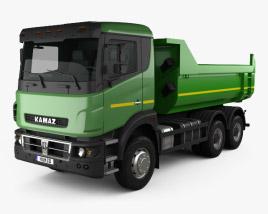 3D model of Kamaz 65802 Dumper Truck 2013