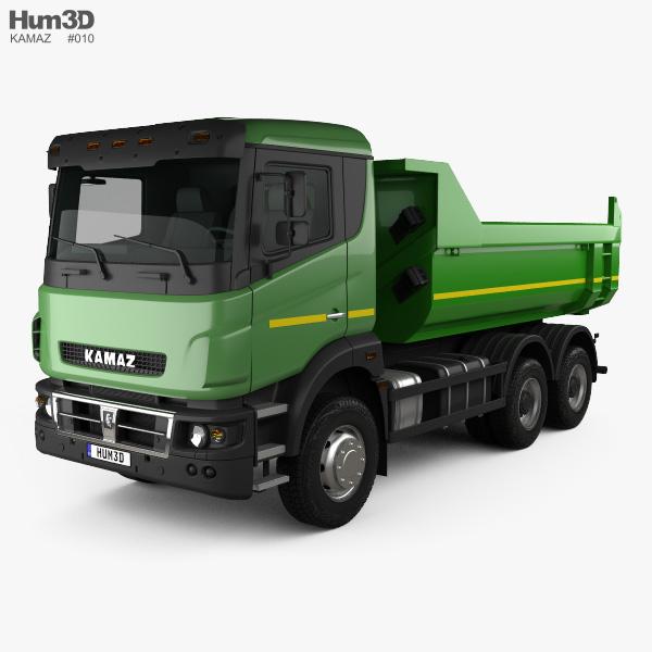 Kamaz 65802 Dumper Truck 2013 3D model