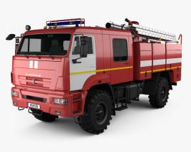 3D model of KamAZ 43502 Fire Truck 2017